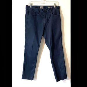 Faherty Comfort Twill 5 pocket pants navy blue 32